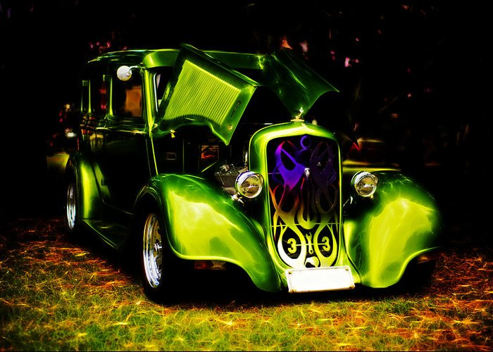Chrysler Greeting Card featuring the photograph 1933 Plymouth Hot Rod by Phil 'motography' Clark