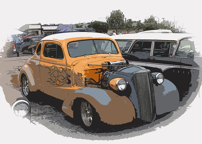 Hot Rod Greeting Card featuring the photograph 1937 Chevy Coupe by Steve McKinzie