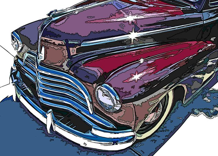 1946 Greeting Card featuring the photograph 1946 Chevrolet Front Study by Samuel Sheats