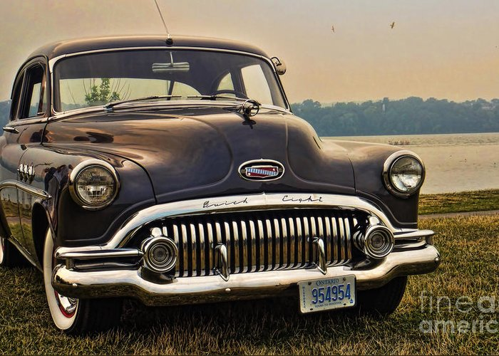 1950 buick roadmaster eight dynaflow greeting card for salelarry