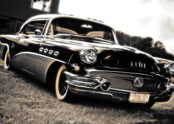 Buick Greeting Card featuring the photograph 1956 Buick Super Series 50 by Phil 'motography' Clark