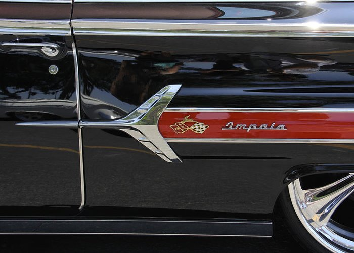 Transportation Greeting Card featuring the photograph 1960 Chevy Impala by Mike McGlothlen