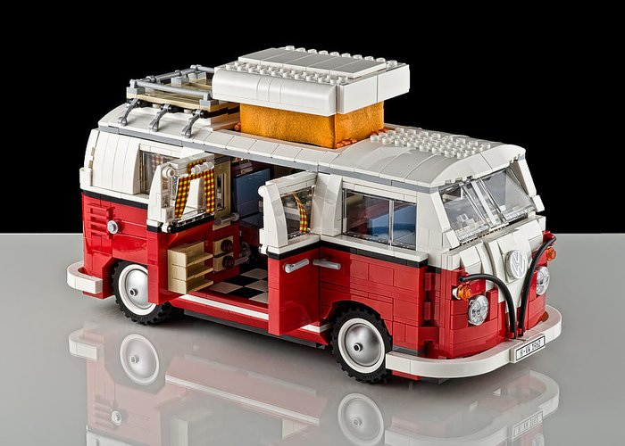 Truck Greeting Card featuring the photograph 1962 Vw Lego Bus by Noah Katz