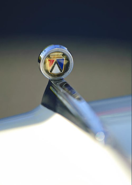 1963 Ford Futura Greeting Card featuring the photograph 1963 Ford Futura Hood Ornament by Jill Reger