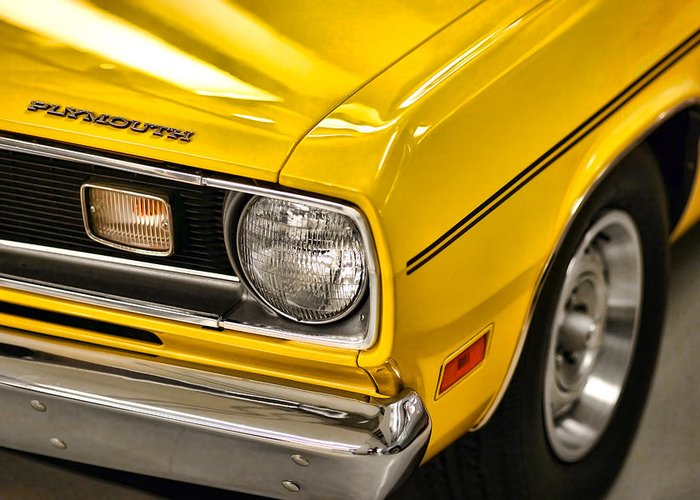Plymouth Greeting Card featuring the photograph 1970 Plymouth Duster 340 by Gordon Dean II