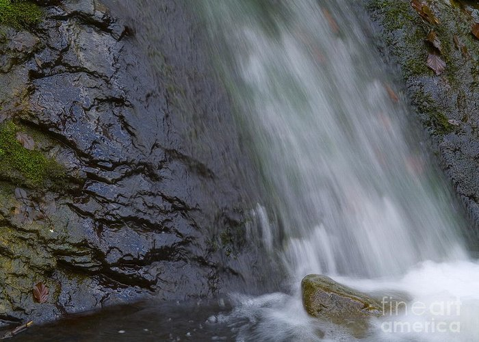 Nature Greeting Card featuring the photograph Waterfall by Odon Czintos