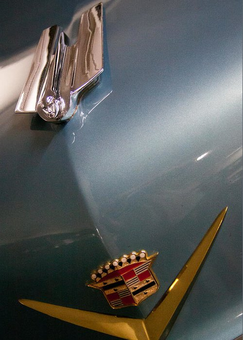 55 Greeting Card featuring the photograph 1955 Cadillac Eldorado 2 Door Convertible by David Patterson