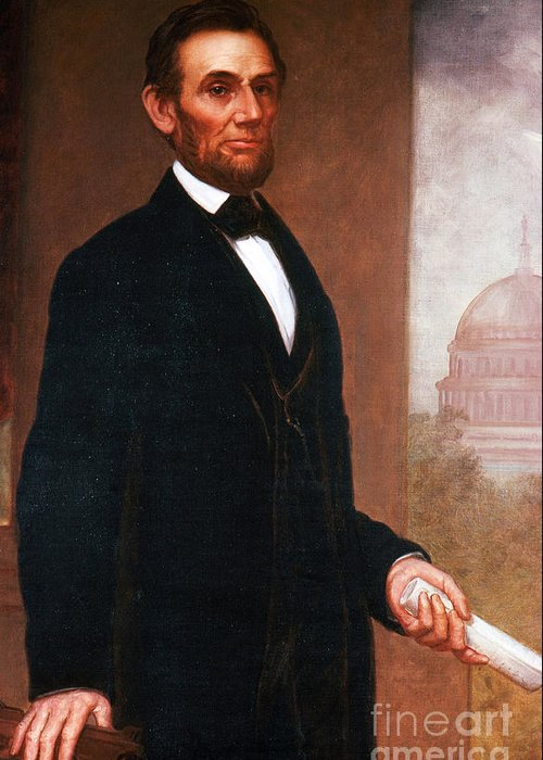 History Greeting Card featuring the photograph Abraham Lincoln, 16th American President by Photo Researchers