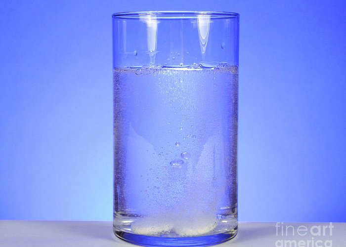 Medicine Greeting Card featuring the photograph Alka-seltzer Dissolving In Water by Photo Researchers, Inc.
