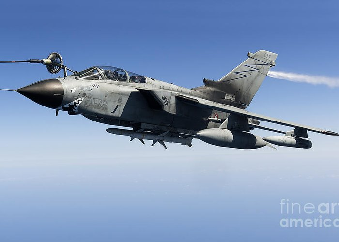 50 Stormo Greeting Card featuring the photograph An Italian Air Force Tornado Ids by Gert Kromhout