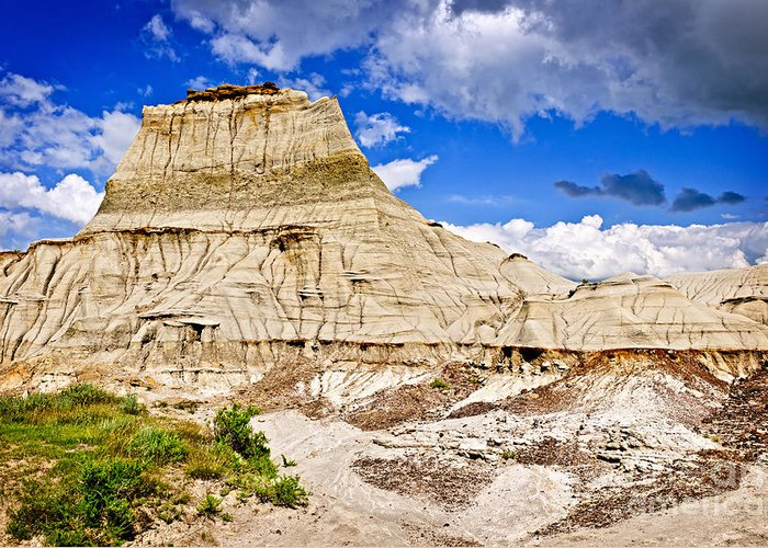 Badlands Greeting Card featuring the photograph Badlands In Alberta by Elena Elisseeva