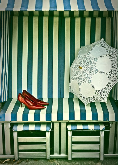 Shoes Greeting Card featuring the photograph Beach Chair by Joana Kruse