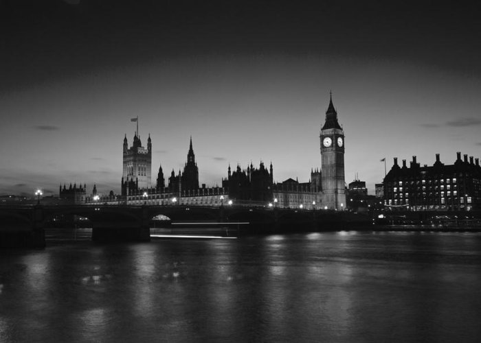 Westminster Greeting Card featuring the photograph Big Ben And The Houses Of Parliament by David French