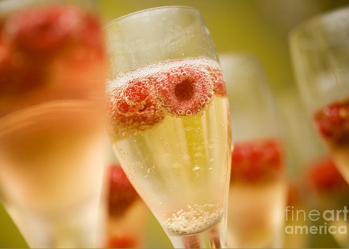 Alcohol Greeting Card featuring the photograph Champagne by Kati Molin