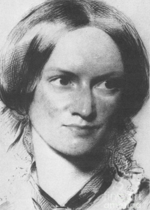Charlotte Bronte Greeting Card featuring the photograph Charlotte Bronte, English Author by Science Source