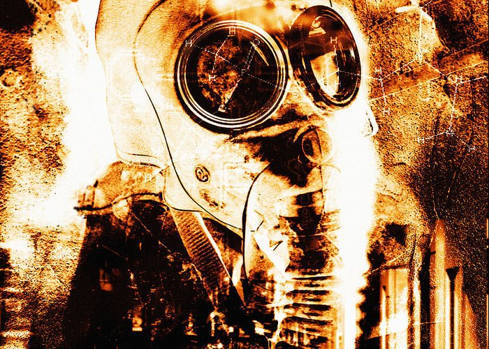Terrorism Greeting Card featuring the photograph Chemical Warfare by Mehau Kulyk