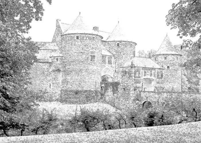 Europe Belgium Greeting Card featuring the photograph Corroy Le Chateau Gembloux Belgium by Joseph Hendrix
