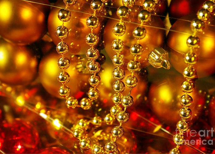 Aligned Greeting Card featuring the photograph Crhistmas Decorations by Carlos Caetano