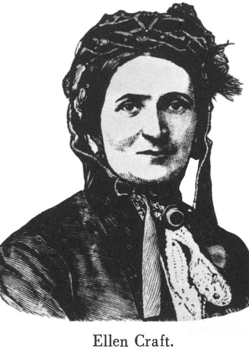 1850s Greeting Card featuring the photograph Ellen Craft (b.1826) by Granger