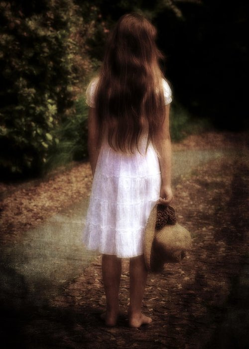 Girl Greeting Card featuring the photograph Farewell by Joana Kruse