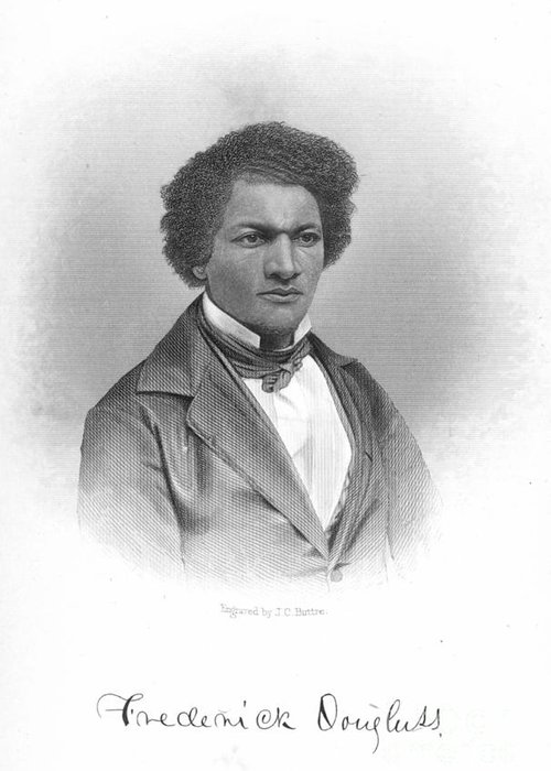 19th Century Greeting Card featuring the photograph Frederick Douglass by Granger