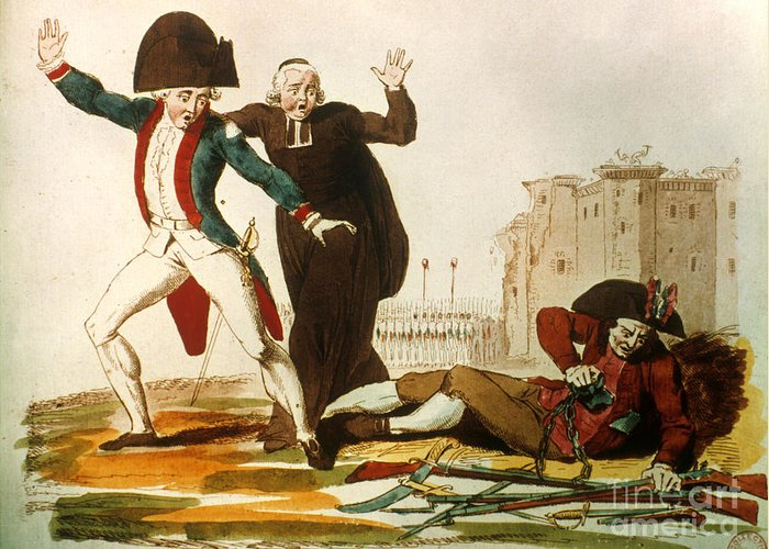 1792 Greeting Card featuring the photograph French Revolution, 1792 by Granger
