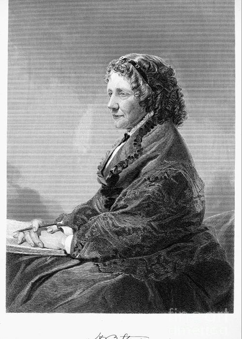 1872 Greeting Card featuring the photograph Harriet Beecher Stowe by Granger