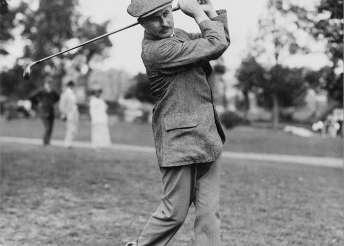 1914 Greeting Card featuring the photograph Harry Vardon (1870-1937) by Granger