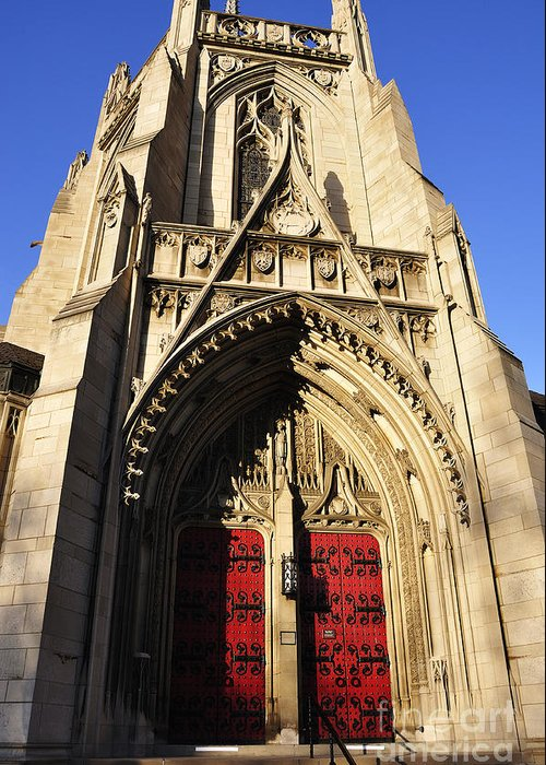Heinz Chapel Greeting Card featuring the photograph Heinz Chapel Doors by Thomas R Fletcher