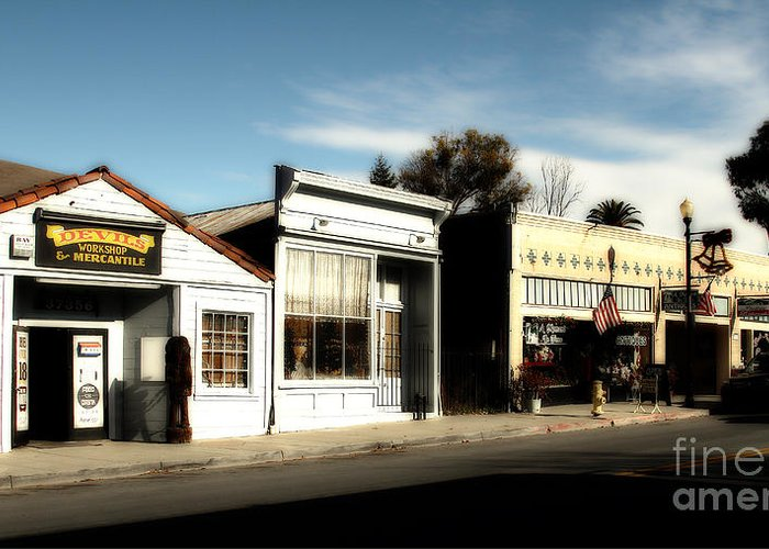 Dreamy Greeting Card featuring the photograph Historic Niles District In California Near Fremont . Main Street . Niles Boulevard . 7d10676 by Wingsdomain Art and Photography