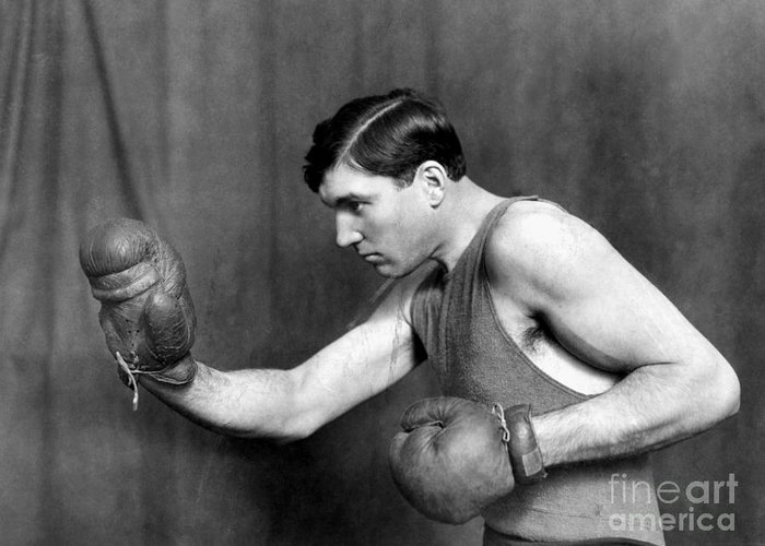 1915 Greeting Card featuring the photograph Jess Willard (1883-1968) by Granger