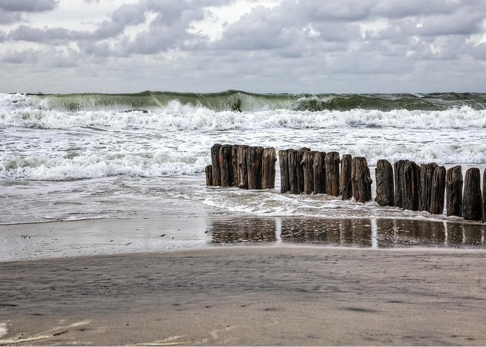 Groyne Greeting Card featuring the photograph Kampen - Sylt by Joana Kruse