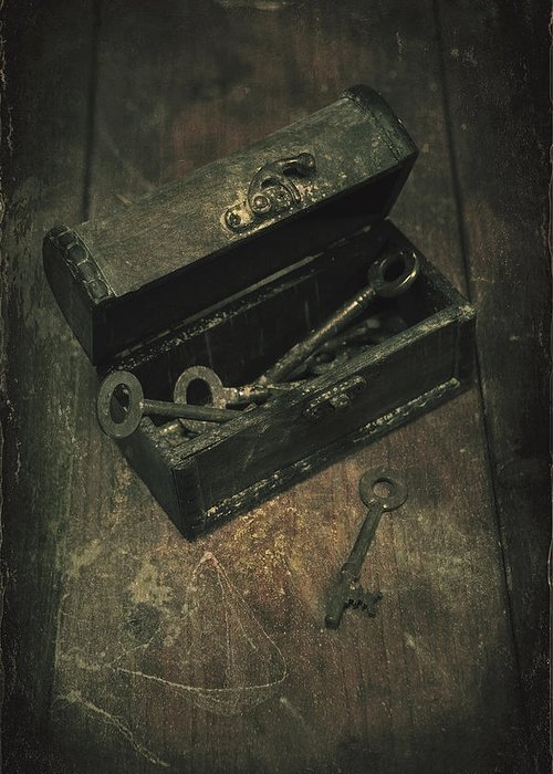 Key Greeting Card featuring the photograph Keys by Joana Kruse