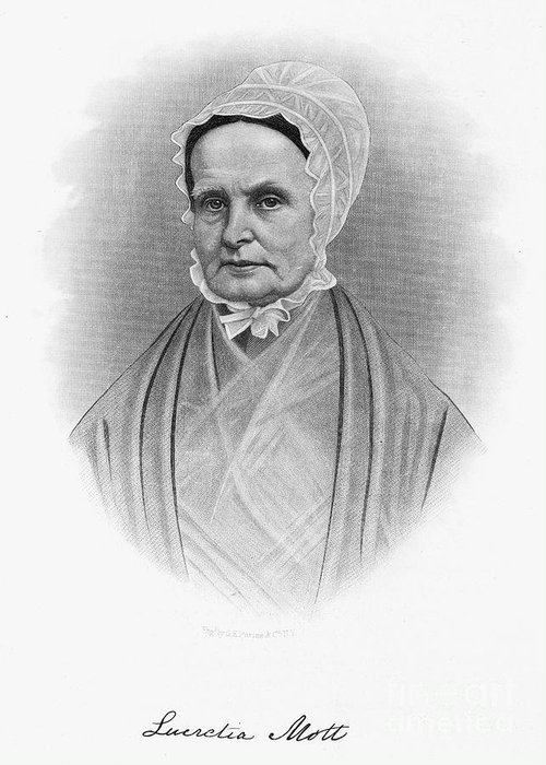 19th Century Greeting Card featuring the photograph Lucretia Coffin Mott by Granger