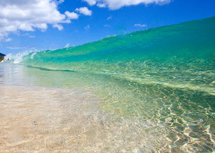 Greeting Card featuring the photograph Makena Wave by James Roemmling