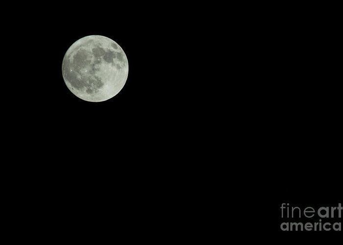 Nature Greeting Card featuring the photograph Moon by Odon Czintos