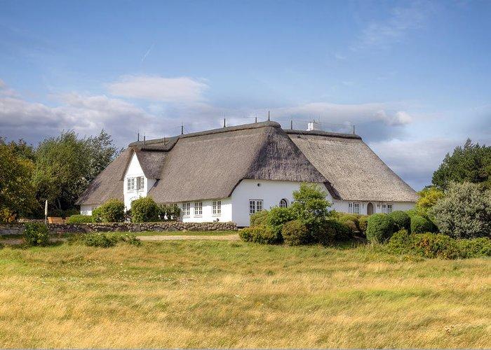 Frisian House Greeting Card featuring the photograph Munkmarsch - Sylt by Joana Kruse