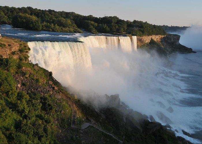 Niagara Falls Greeting Card featuring the photograph Niagara Falls Ny by Brian Mcmillen