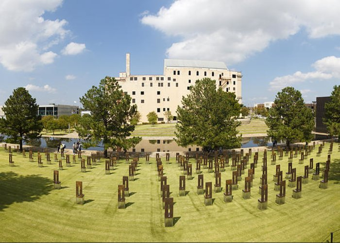 National Greeting Card featuring the photograph Oklahoma City National Memorial by Ricky Barnard