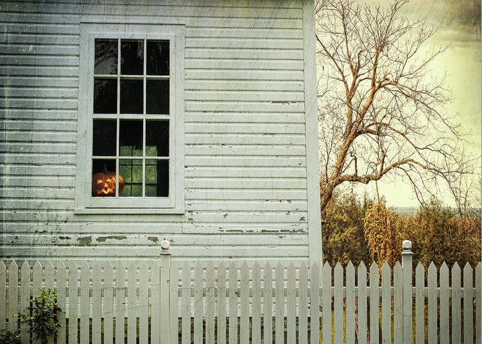 Architecture Greeting Card featuring the photograph Old Farm House Window by Sandra Cunningham