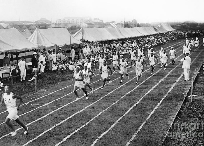 1912 Greeting Card featuring the photograph Olympic Games, 1912 by Granger