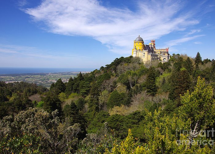Arabian Greeting Card featuring the photograph Pena Palace by Carlos Caetano