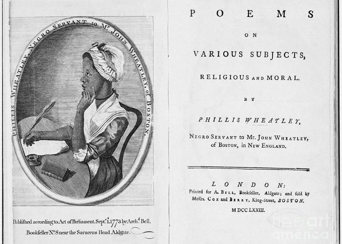 History Greeting Card featuring the photograph Phillis Wheatley, African-american Poet by Photo Researchers