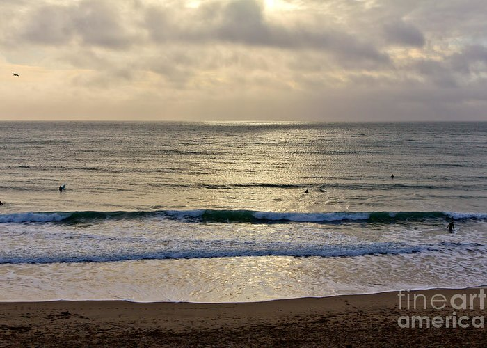 Praa Sands Cornwall Greeting Card featuring the photograph Praa Sands by Brian Roscorla