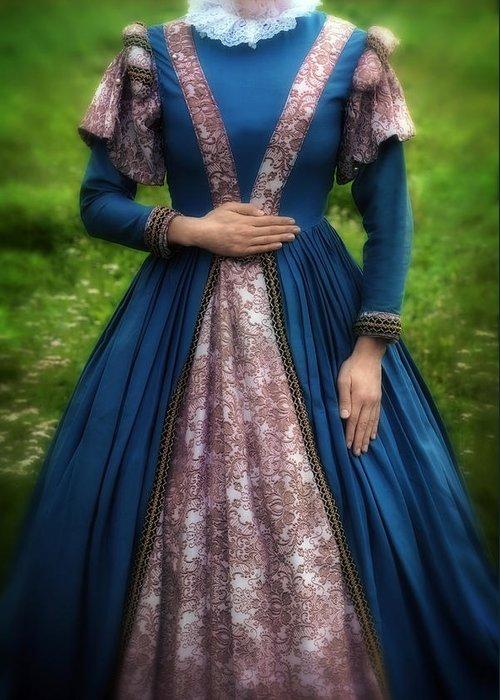 Woman Greeting Card featuring the photograph Renaissance Princess by Joana Kruse