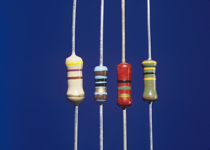 Component Greeting Card featuring the photograph Resistors by Andrew Lambert Photography