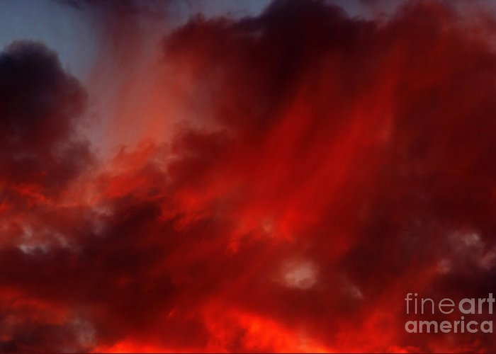 Rosy Sky Greeting Card featuring the photograph Rosy Sky by Michal Boubin