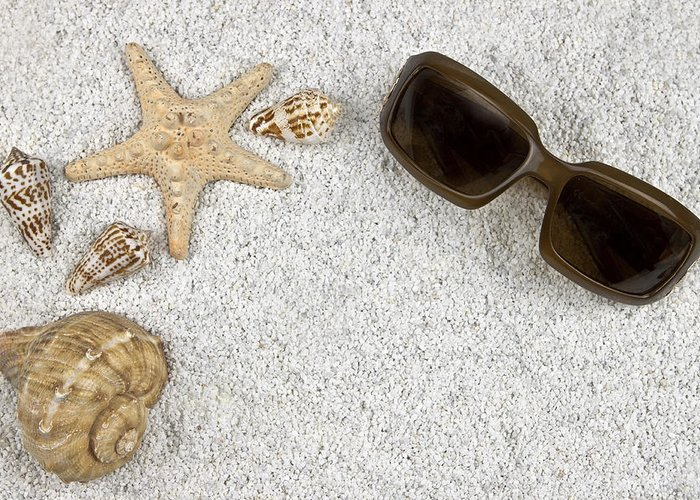 Starfish Greeting Card featuring the photograph Seastar And Shells by Joana Kruse