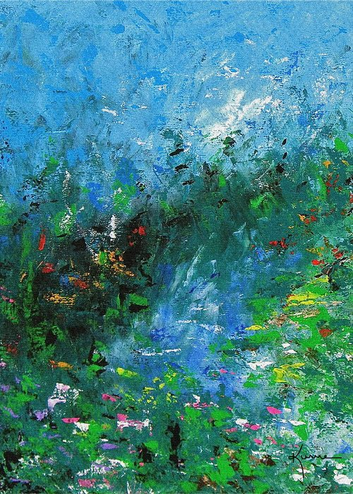 Spring Greeting Card featuring the painting Spring by Kume Bryant
