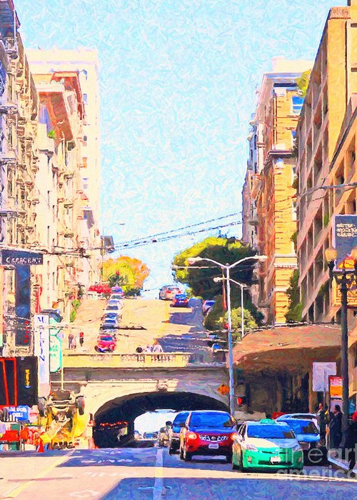 San Francisco Greeting Card featuring the photograph Stockton Street Tunnel In San Francisco by Wingsdomain Art and Photography
